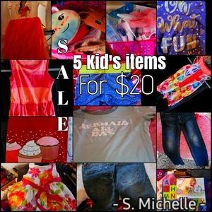 5 kids items from any subcategory for $20